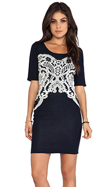 Alice by Temperley Fitted Aragon Dress in Midnight Mix