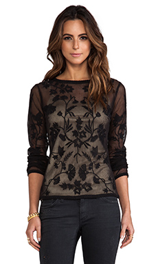Alice by Temperley Clover Top in Black