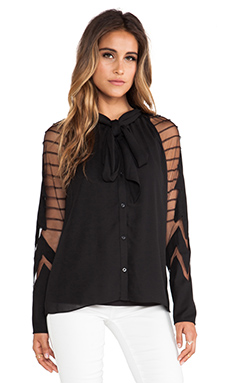 Alice by Temperley Angelina Blouse in Black