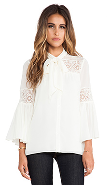 Alice by Temperley Fleur Lace Blouse in Ivory