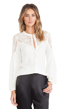 Alice by Temperley Dawn Shirt in Ivory