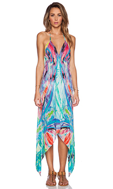 ale by alessandra Butterfly Silk Scarf Dress in Multi