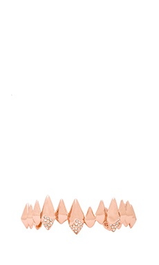 Alexis Bittar Pave Crystal Faceted Spear Cuff in Rose Gold