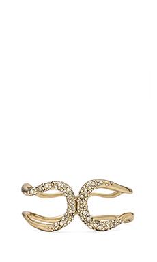 Alexis Bittar Crystal Encrusted Hinge Bracelet in Gold