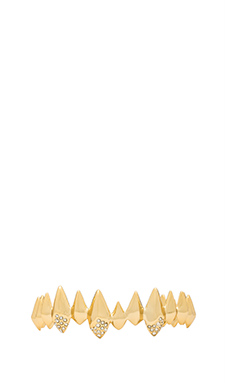 Alexis Bittar Pave Crystal Faceted Spear Cuff in Gold