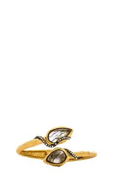 Alexis Bittar Rocky Bypass Hinge Bracelet in Gold & Ruthenium