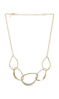 Alexis Bittar Five Link Orbiting Aura Necklace in Gold