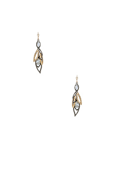 Alexis Bittar Dangling Wire Earrings in Ruthenium & Gold