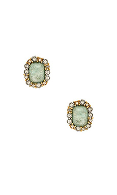 Alexis Bittar Emerald Cut Amazonite Crystal Earring in Gold