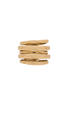 Alexis Bittar Layered Ring in Gold
