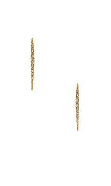 Alexis Bittar Encrusted Spear Earring in Gold
