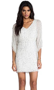 Alice + Olivia Olympia Embellished Tunic Dress in White Multi