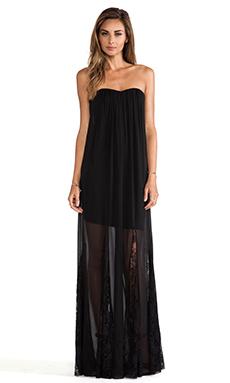 Alice + Olivia Francesca Strapless Maxi Dress in Black