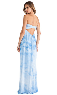 Alice + Olivia Maisie Sweetheart Maxi Dress in Ombre Cloud