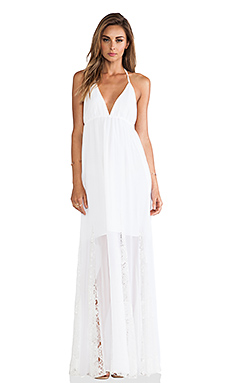 Alice + Olivia McBain Halter Maxi Dress in White