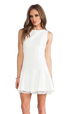 Alice + Olivia Kaya Drop Waist Dress in White