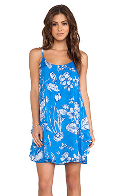 Alice + Olivia Rhi Tiered Hem Tank Dress in Ladybug Garden