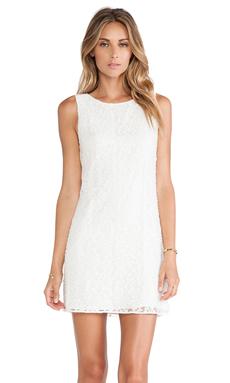 Alice + Olivia Dot Sleeveless Dress in White