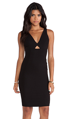 Alice + Olivia Yve Cut Out Dress in Black