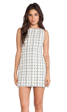 Alice + Olivia Kipp Sleeveless Dress in Black & White