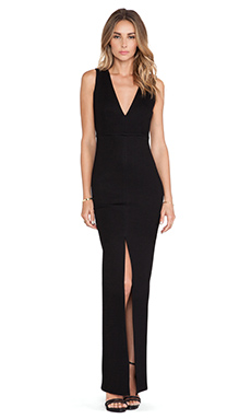 Alice + Olivia Kahlo Maxi Dress in Black