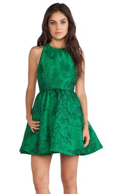 Alice + Olivia Tevin Racerback Party Dress in Emerald