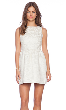 Alice + Olivia Lillyanne Mini Dress in Ivory