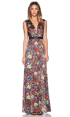 Alice + Olivia Triss Maxi Dress in English Floral