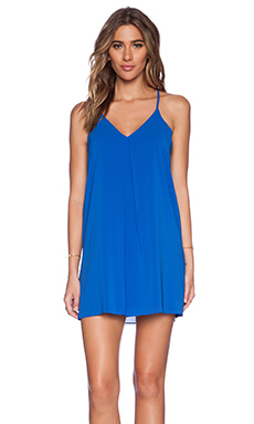 Alice + Olivia Fierra Y Back Mini Dress in Blue