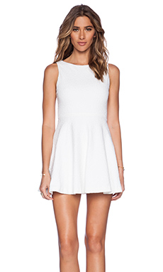 Alice + Olivia Monah A-Line Dress in White