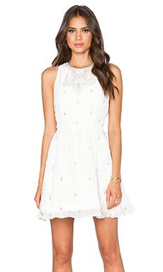 Alice + Olivia Gilda Embellished Dress in Off White