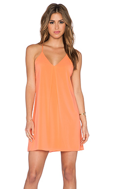 Alice + Olivia Fierra Y-Back Tank Dress in Coral