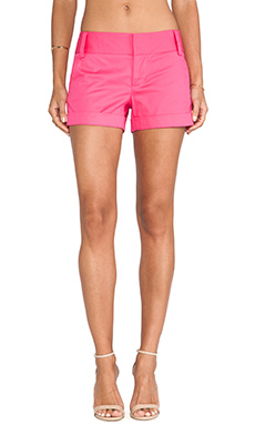 Alice + Olivia Cady Cuff Shorts in Fuchsia Pink Icing