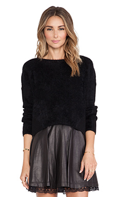 Alice + Olivia Wallace Mohair Sweater in Black