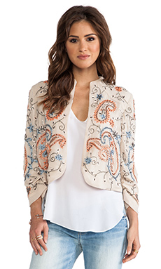 Alice + Olivia Eliette Embellished Jacket in Stone Multi