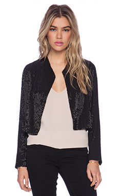 Alice + Olivia Kevin Embellished Jacket in Black