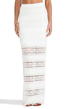 Alice + Olivia Ettley Lace Maxi Skirt in Cream