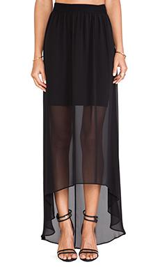 Alice + Olivia Rome Sheer Maxi Skirt in Black