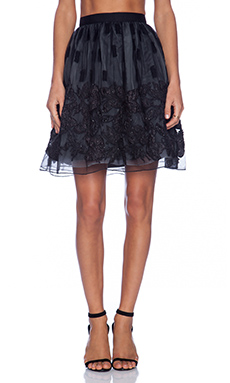 Alice + Olivia Pia Pouf Skirt in Black