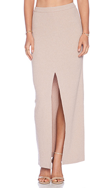 Alice + Olivia Abby Slim Maxi Skirt in Dusty Pink