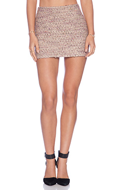 Alice + Olivia Elana Mini Skirt in Pink Multi
