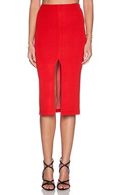 Alice + Olivia Spiga Front Slit Pencil Skirt in Red