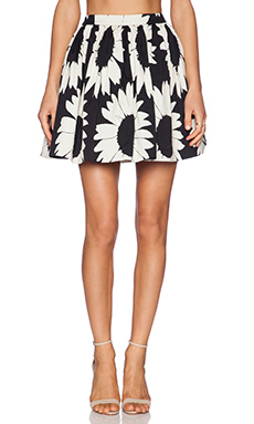 Alice + Olivia Tania Full Pouf Skirt in Black & Natural
