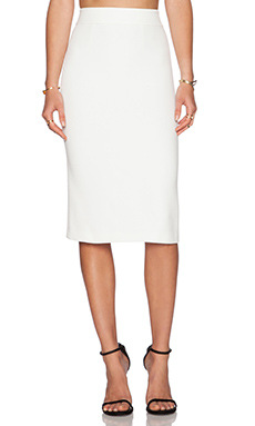 Alice + Olivia Bobbi Pencil Skirt in Off White