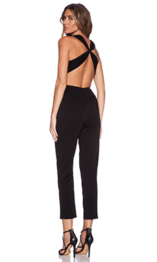 Alice + Olivia Hiloti Cross Back Jumpsuit in Black