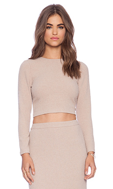 Alice + Olivia Tess Crop Top in Dusty Pink