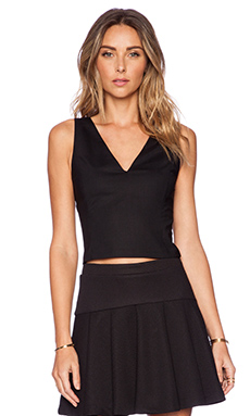Alice + Olivia Lyla Fitted Tank in Black