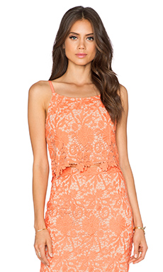 Alice + Olivia Alanis Cami in Coral & Nude