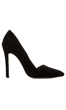 Alice + Olivia Dina Pump in Black Suede