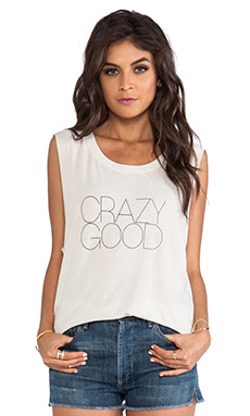 All Things Fabulous Crazy Good Muscle Tee in Sand